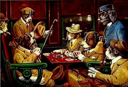 Dogs Playing Cards 6 Dogs Playing Poker Most Famous Paintings Popular Paintings