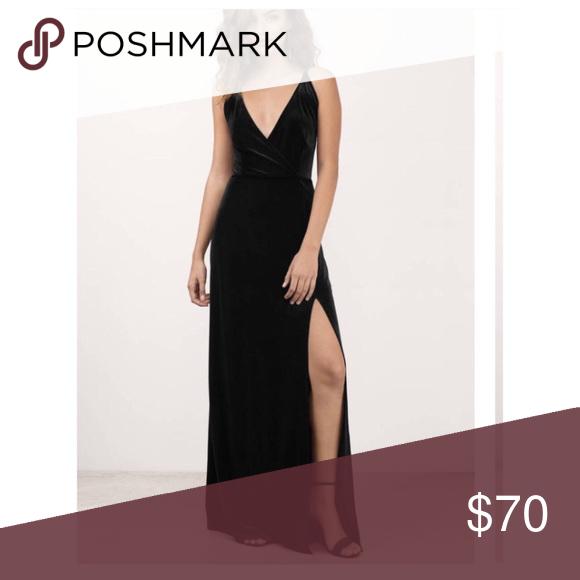 Embrace Me Black Velvet Maxi Dress Embrace Me Black Velvet Maxi Dress. NWT! Tobi Dresses Maxi