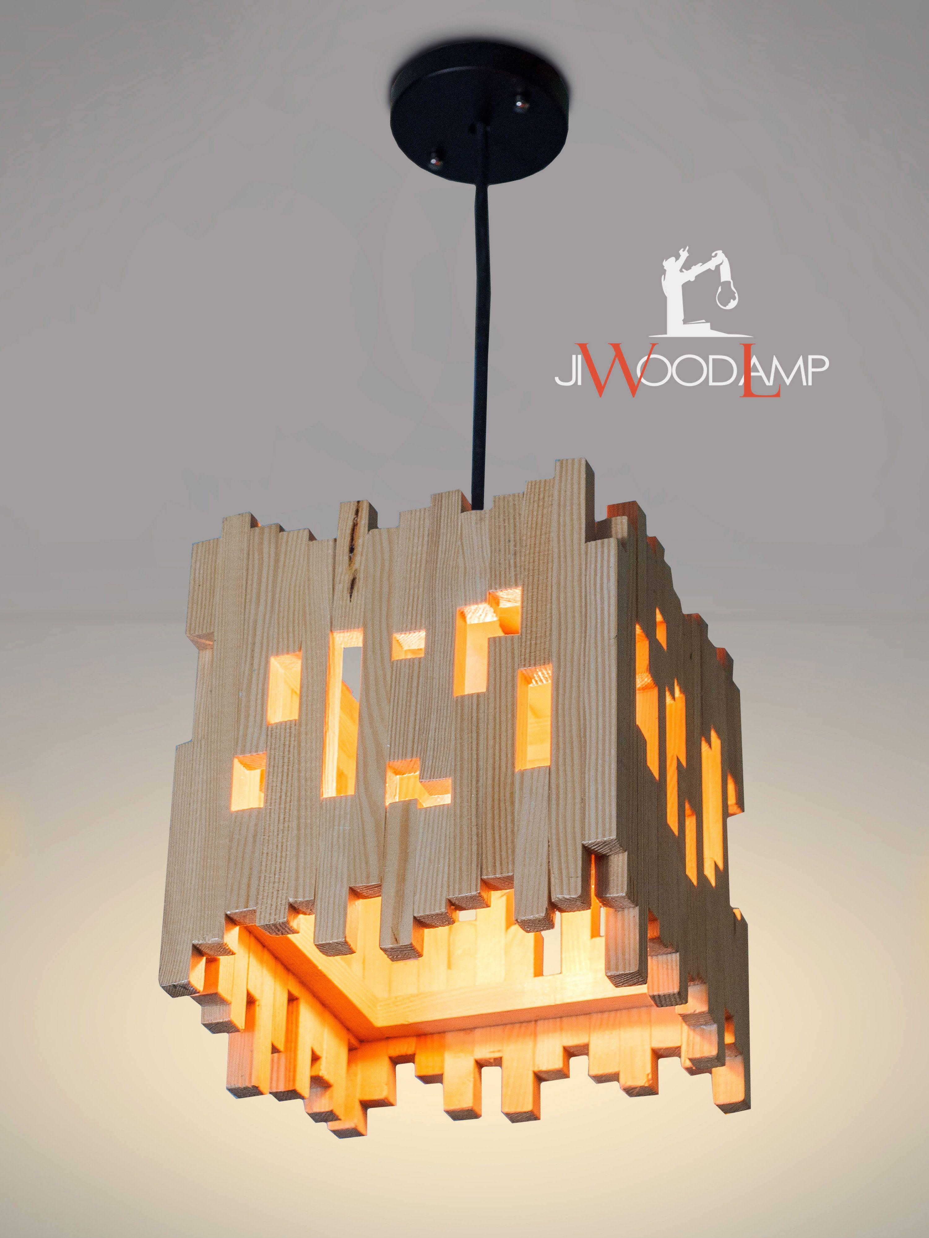 Wood Hanging Lamp Pendant Light Wood Lamp Wooden Lamp Natural