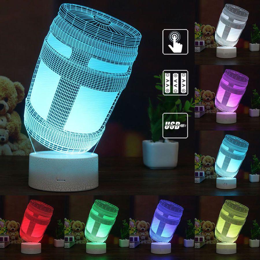 Fortnite Jeu 3d Led Nuit Lumi猫re Veilleuse Lampes De Table Cadeau Xmas Gift Nuit Lumi Veilleuse Night Light Led Night Light Night Light Kids