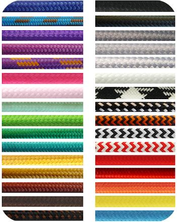 COLOURED ELECTRICAL CABLE CORD COLOURED TEXTILE CABLING Lighting