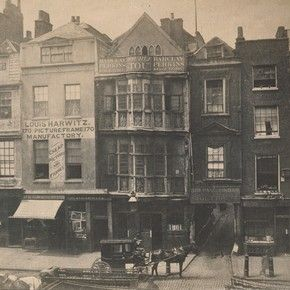 Sir Paul Pindar's Head tavern, Bishopsgate, London, photographed by William Strudwick, about 1865. Museum no. 67:466