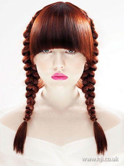 2008 redhead plaits hairstyle        Hairstyle by: Michael Barnes for Goldwell #HJColour #hair