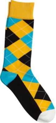 0711ee17c5a3 Egara Gold, Blue, and Black Argyle Socks   Men's Wearhouse   Style ...