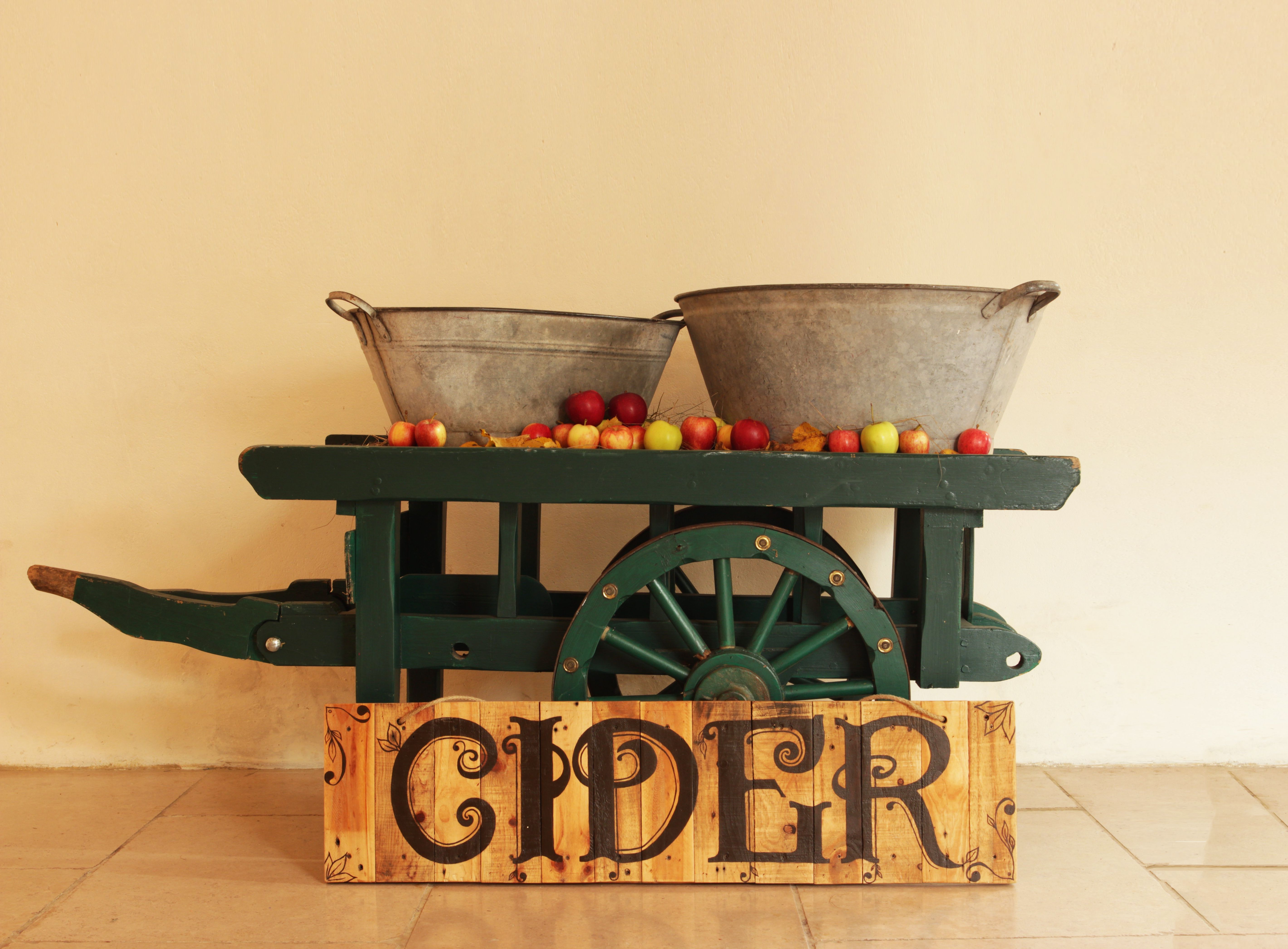 Viking wedding decorations october 2018 Cider bar with our tin baths and vintage wooden cider sign  Farm