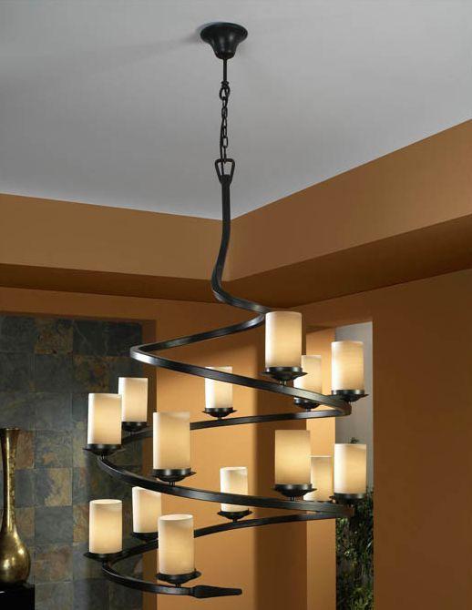 Lamparas rusticas modelo crisol de 14 luces iluminacion - Lamparas de techo rusticas ...