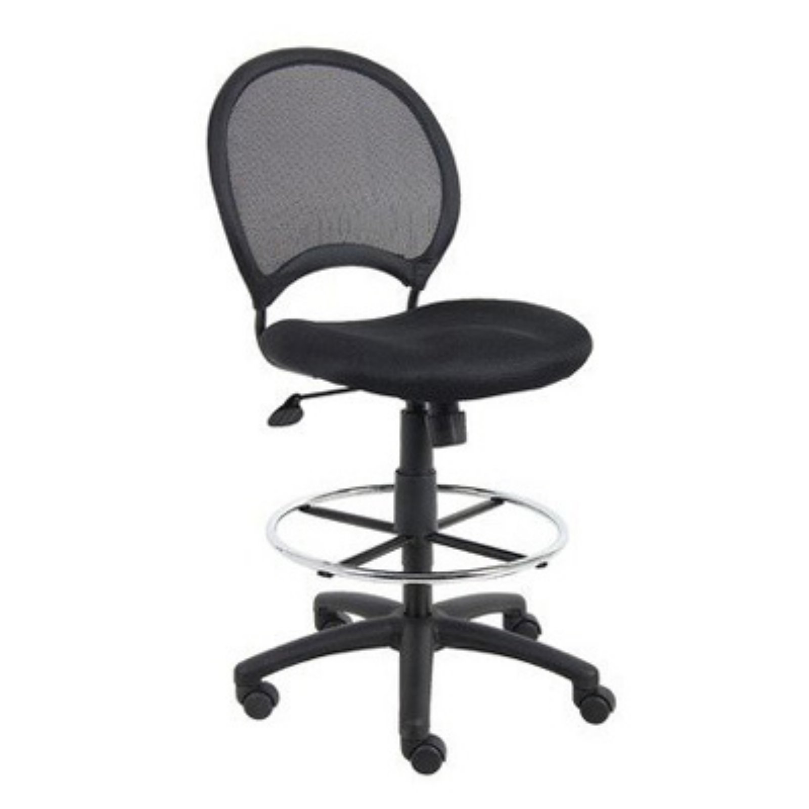Miraculous Boss B16217 Mesh Drafting Stool With Loop Arms Black Bralicious Painted Fabric Chair Ideas Braliciousco