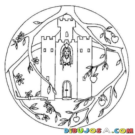 Mandalas Para Colorear De Castillo De Princesa | COLOREAR MANDALAS ...