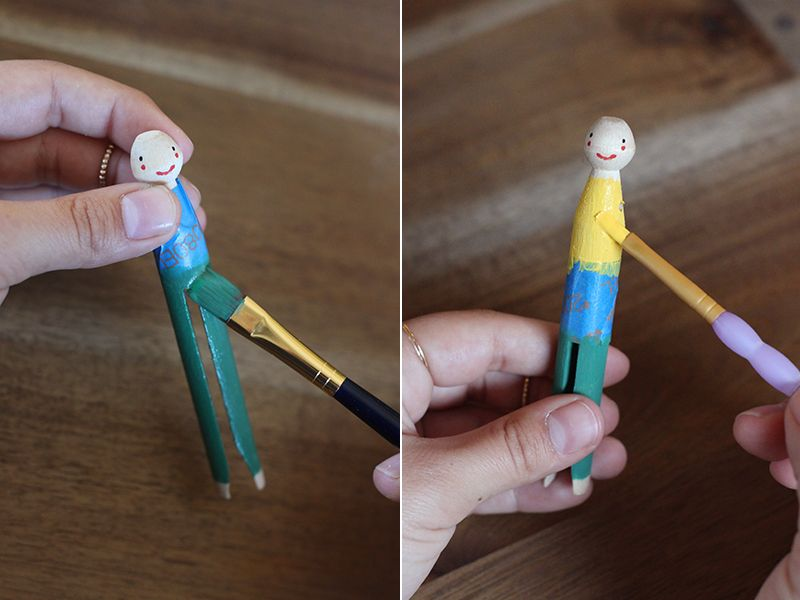 Diy Clothespin Doll Ornaments Wascheklammer Puppen Feiertag Handwerk Und Basteln