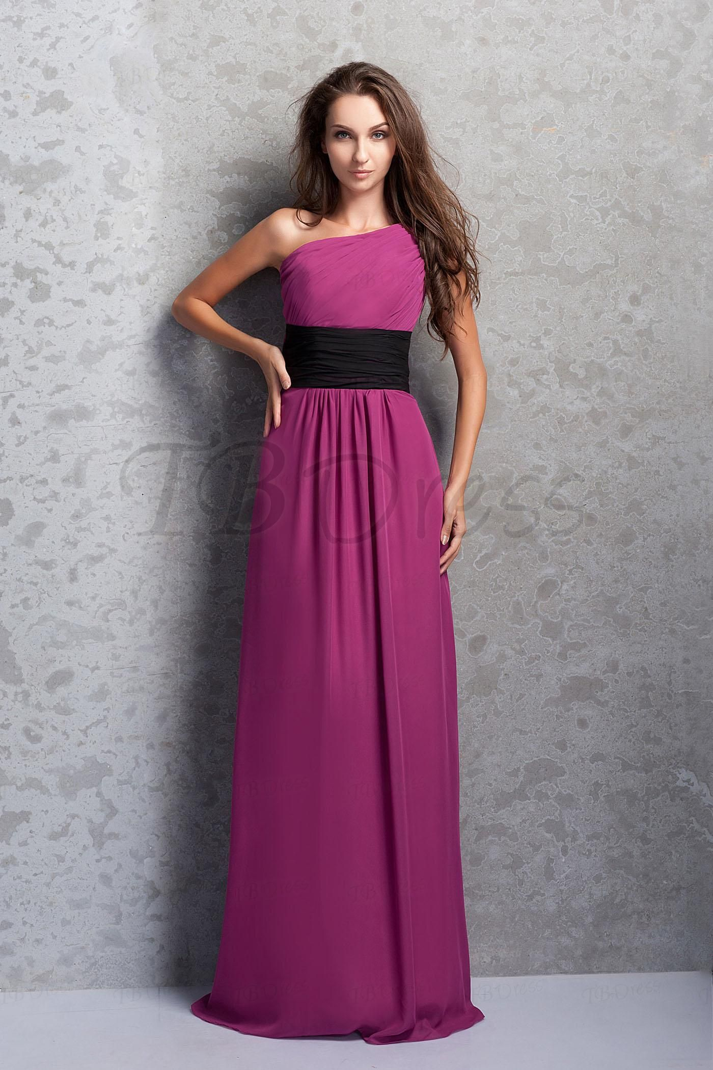 Empire Waist A-line One-Shoulder Long Prom/Bridemaid Dress   Prom ...
