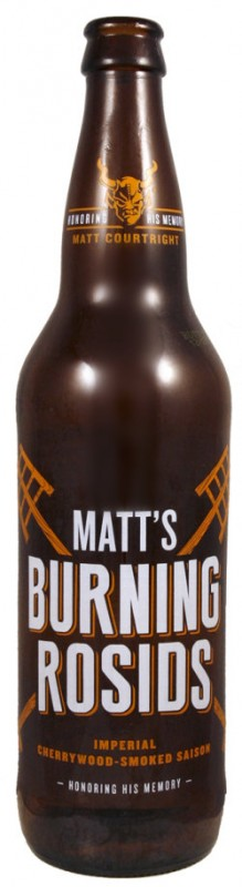 Cerveja Stone Matt's Burning Rosids, estilo Other Smoked Beer, produzida por Stone Brewing Co., Estados Unidos. 10.5% ABV de álcool.