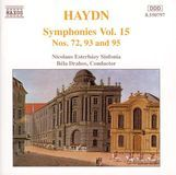 Haydn: Symphonies, Vol. 15 - Nos. 72, 93 & 95 [CD]