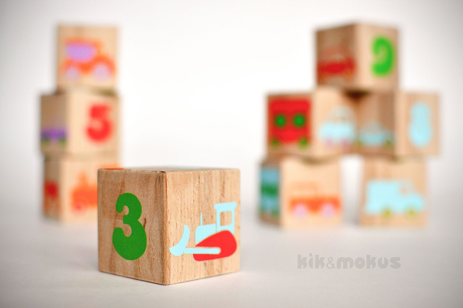 Baby with toys images  Wooden kids blocks with pictures  Baby cubes Wooden cubes and