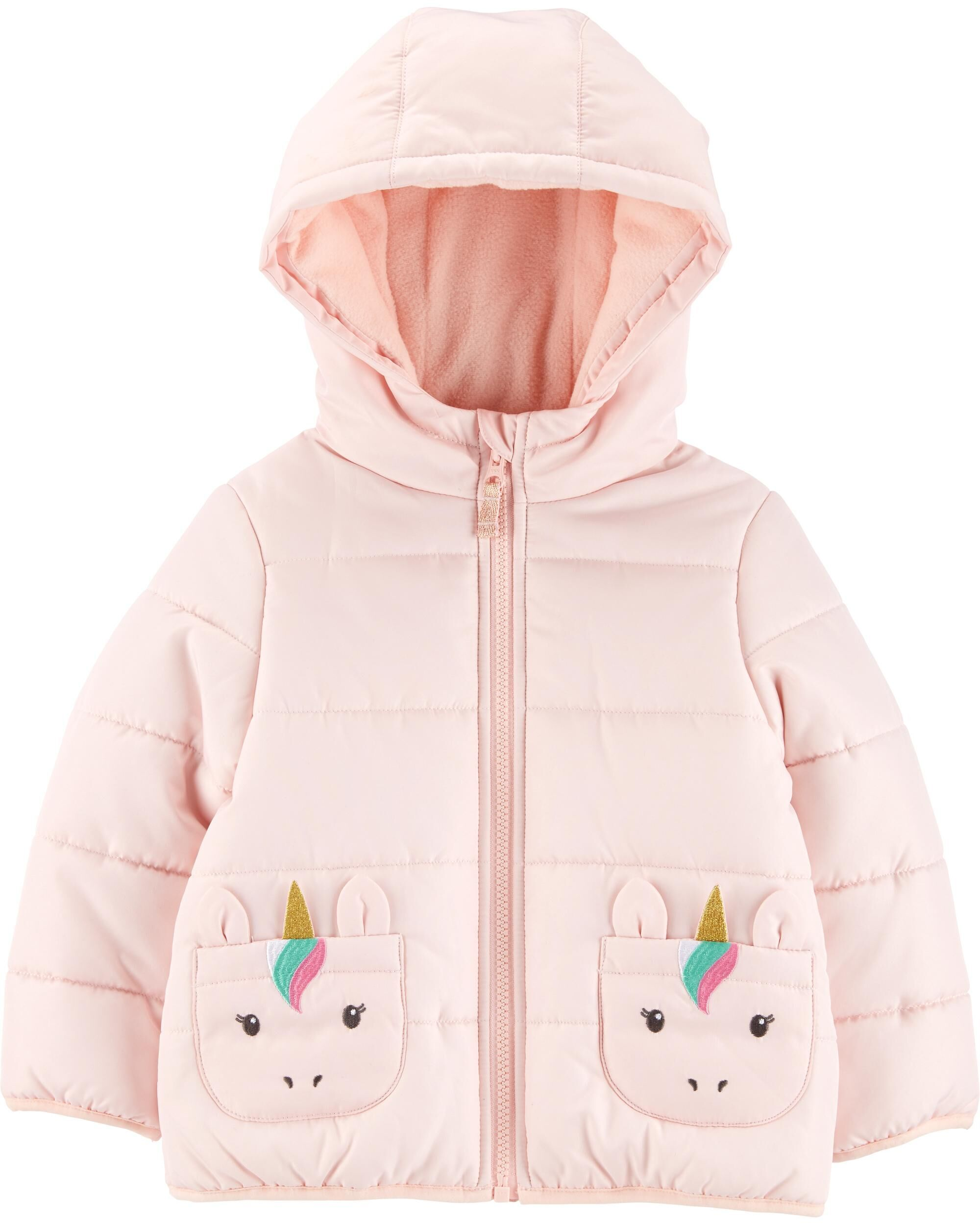Unicorn Quilted Puffer Jacket Baby Girl Jackets Toddler Girl Jackets Quilted Puffer Jacket