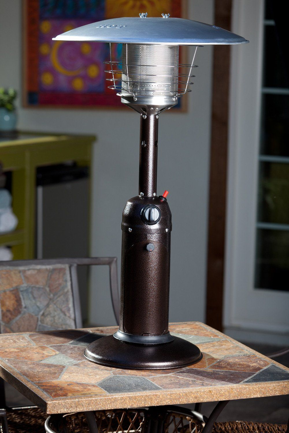 Fire Sense Table Top Propane Patio Heater In Stainless Steel Or Bronze Perfect For Outdoor Entertaining This Tab Tabletop Patio Heater Patio Heater Fire Sense