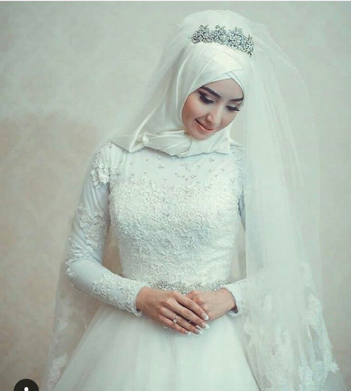 Pin by Sufiya Khan on Muslim Brides •}•{• | Pinterest | Hijab bride ...