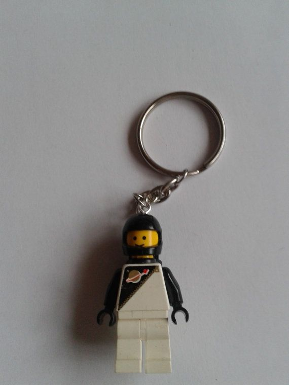 Classic black spaceman  minifigure keychain by simplyproducts