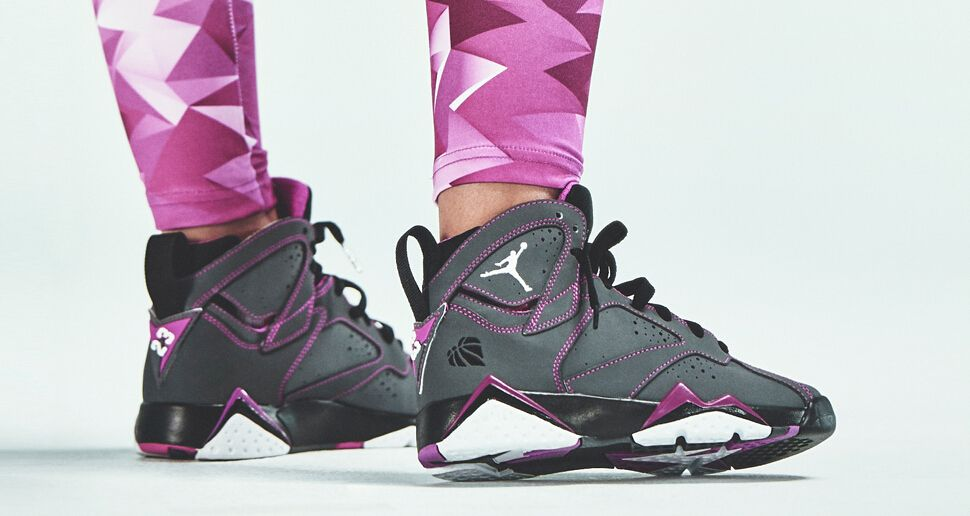 reputable site b11f6 64dcc Air Jordan 7 GS Color  Dark Grey White-Black-Fuchsia Flash Style Code   705417-016 Release Date  02 07 15