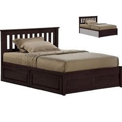 NE Kids - Spice Chocolate Rosemary Queen Bed (Bottom Drawer Sold Seperately)