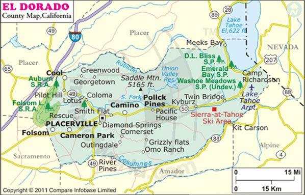 Placerville California Map.Modern Map Showing El Dorado County Placerville Ca Pinterest