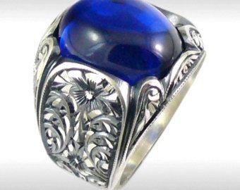 Mens zilveren ring Ring van de Mens met de Hand gemaakt door zafMENS