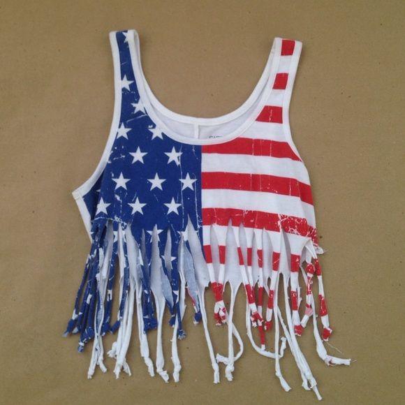 American Flag Crop Top American Flag Crop Top American Flag Shirt Fourth Of July Shirts