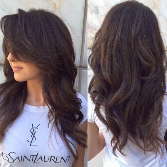 Прически для темных длинных волос картинки