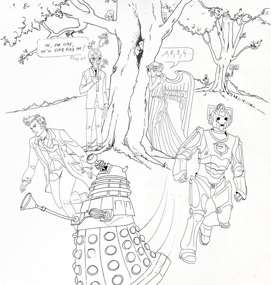 Doctor Who Coloring Pages Coloring Pages Pictures Imagixs