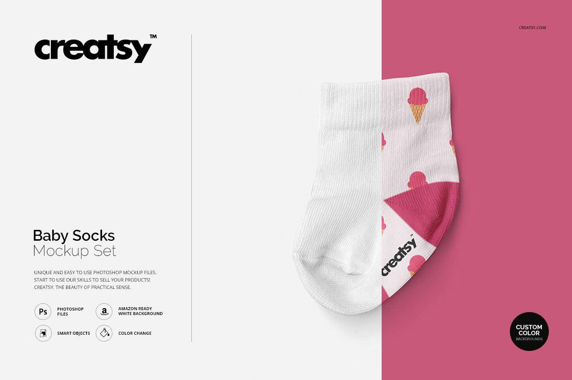 Download Baby Socks Mockup Set Baby Socks Creative Photoshop Brochure Design Template
