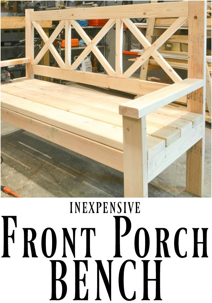 This Diy Front Porch Bench Is Not Only