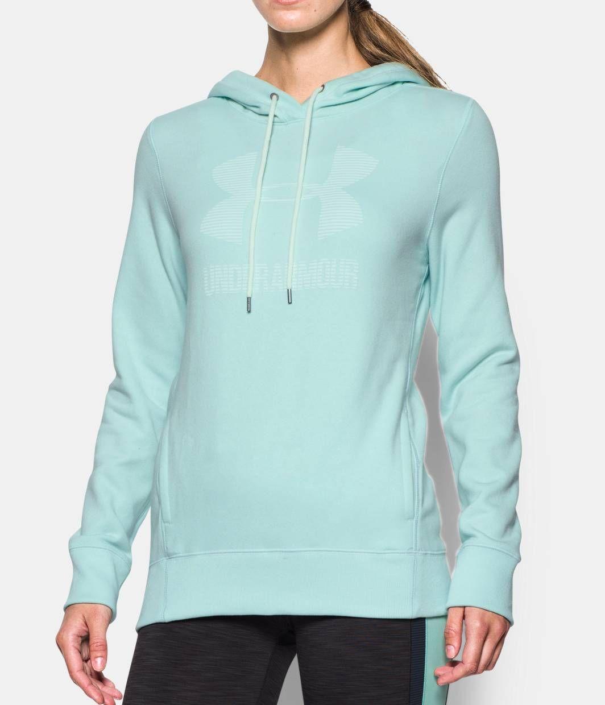 Women's UA Sportstyle Favorite Fleece , AQUA FALLS, zoomed image
