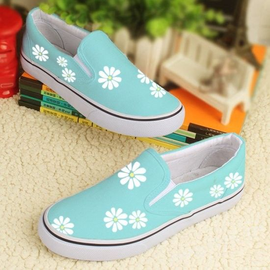 Wisteria & Butterfly Women Casual Sneakers Shoes Flat Customize Spring Simple