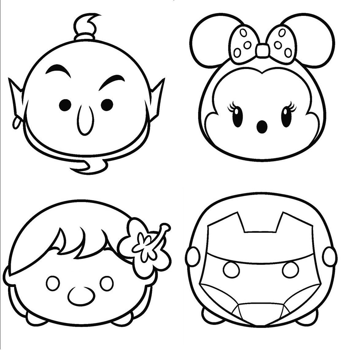 Printable Disney Tsum Tsum Coloring Sheet For Kids Tsum Tsum Coloring Pages Disney Coloring Pages Coloring Pages