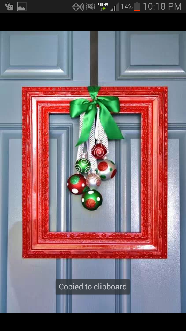 Christmas Picture Frame Craft Ideas Part - 48: 21 Ways To Decorate With Ornaments Besides Hanging Them On Your Tree