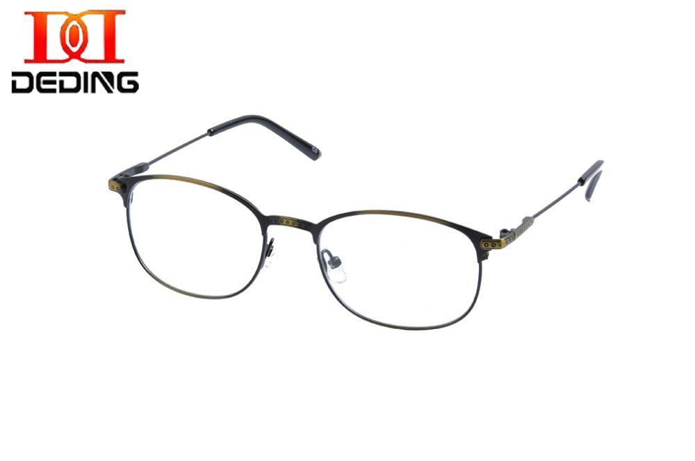 79dee774ecc DEDING Men s Full Frame clear lens glasses Metal Eyeglasses Full Spectacle  2 tone color Frame Myopia