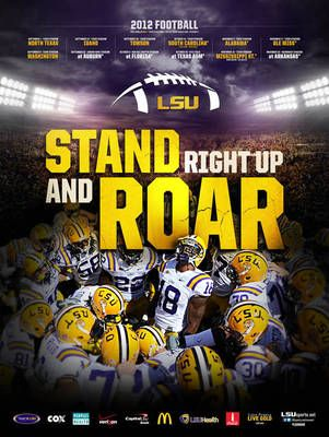 Best Schedule Posters In The Land Lsu Lsu Football Lsu Tigers Football