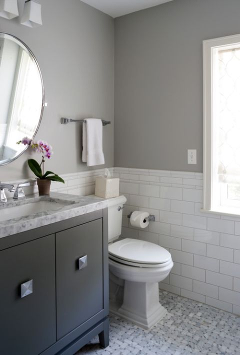 What Color Paint Goes With Gray Bathroom Tile