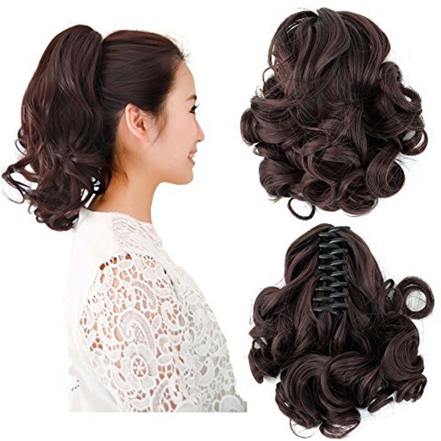 Beauty Angelbella New Popular Women Clip On Ponytail Long Claw Curly