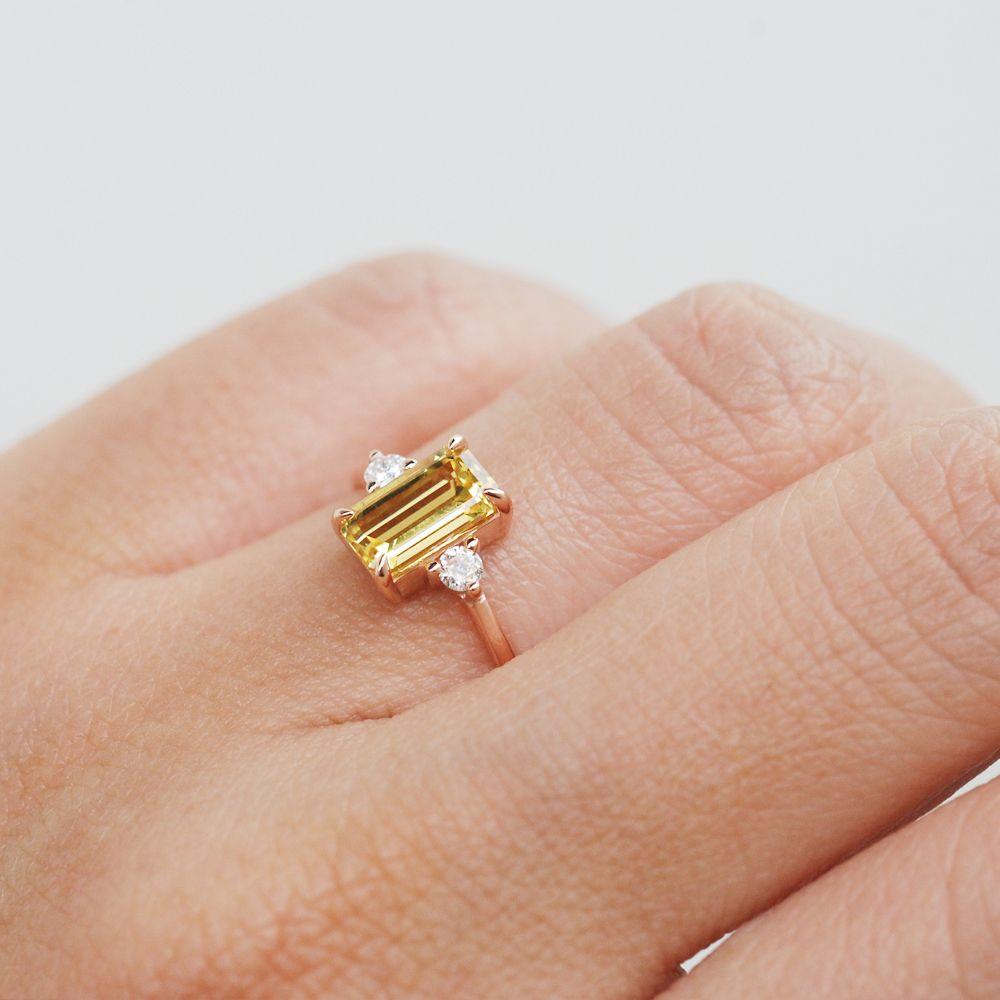 Yellow sapphire ring yellow sapphire engagement ring yellow