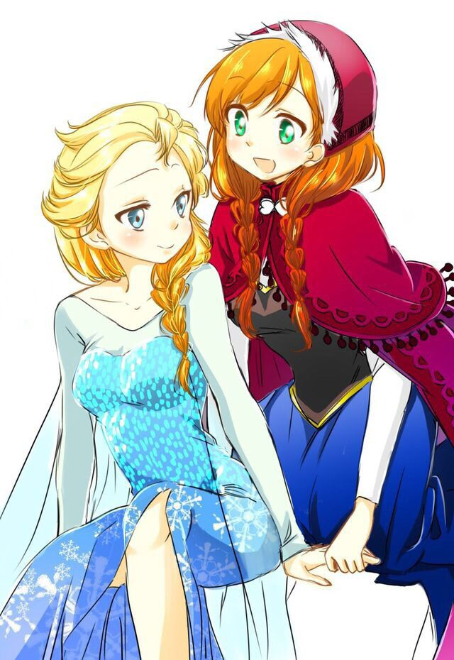 K Anime Characters Anna : Elsa and anna humanized anime characters pinterest