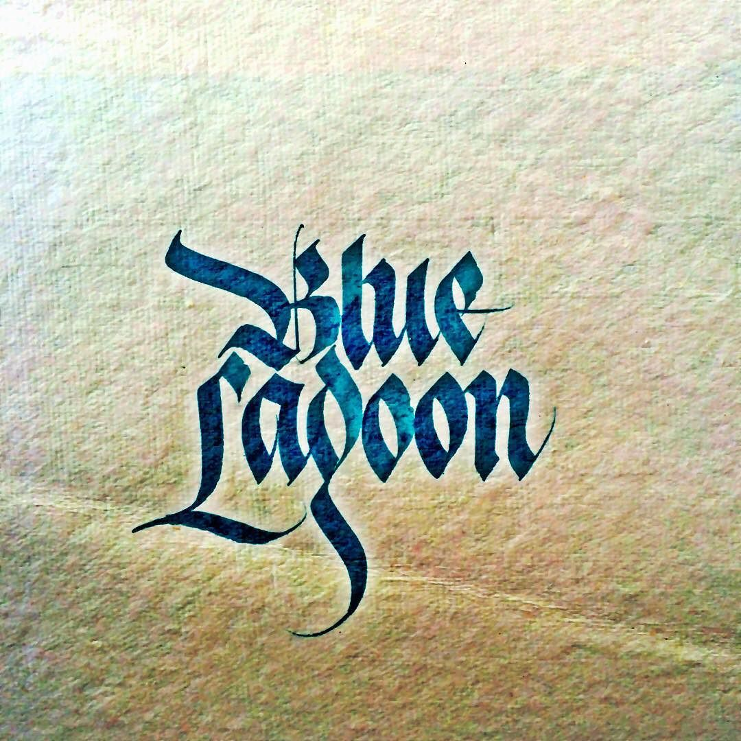 The Blue Lagoon #sachinspiration #calligraphy #calligraphymasters #typegang #typespire #typematters #thedailytype #instatype #handtype #handwritten by sachinspiration