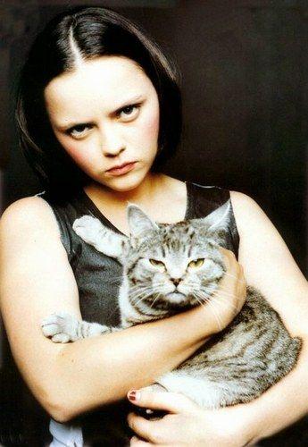 Christina Ricci  / cat