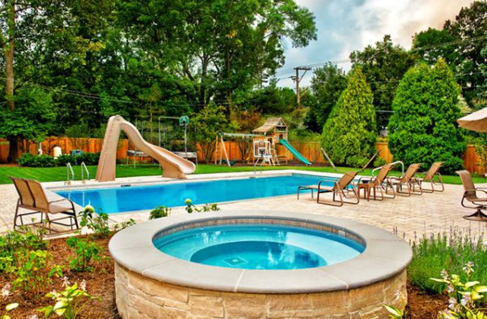 Backyard pool ideas cool backyard pool design ideas for for Swimming pool designs with slides