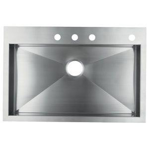 Kohler K3821-4-NA Vault Stainless Steel Single Bowl Kitchen Sink - Stainless  Steel