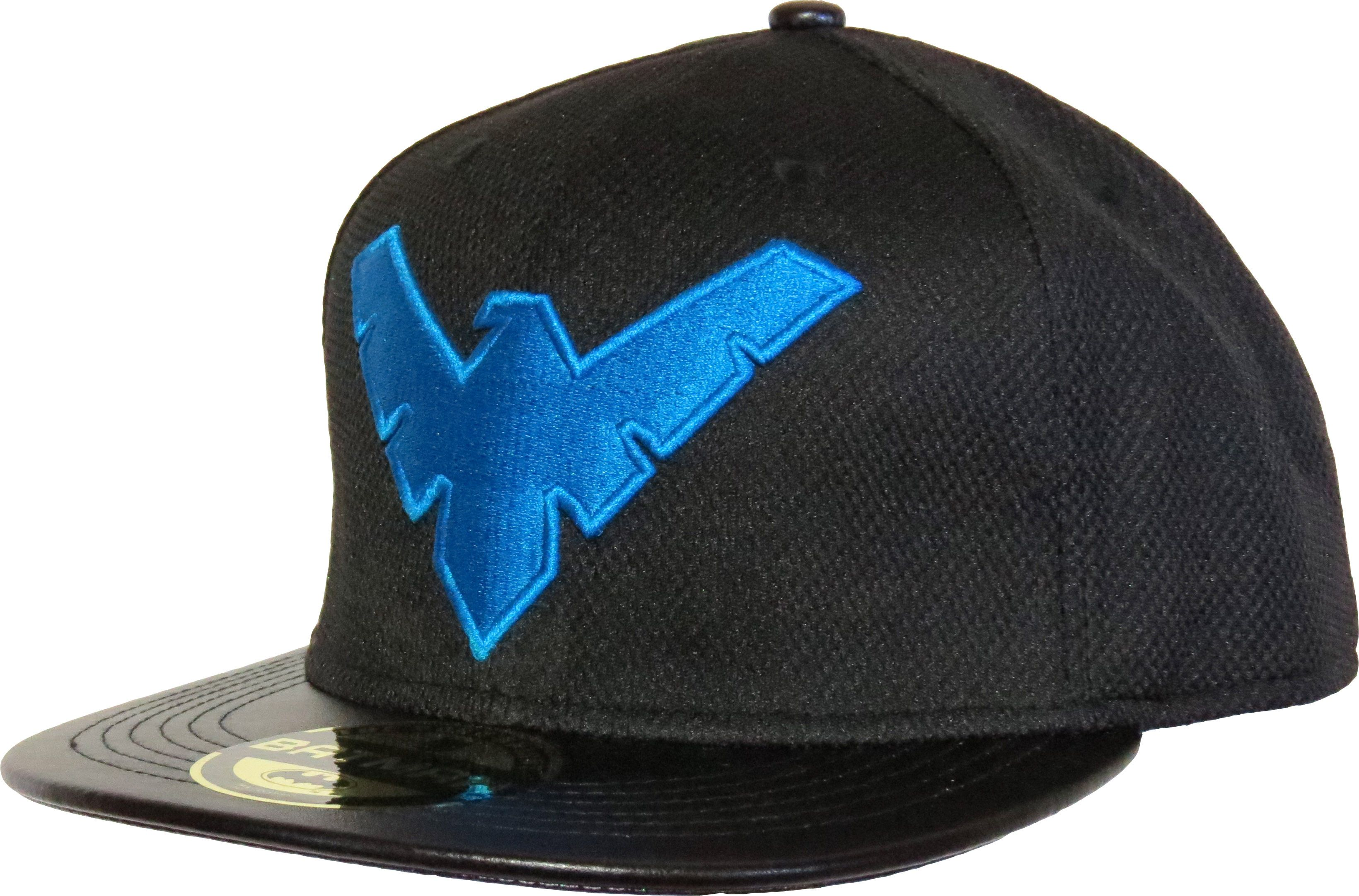 ea3d65bb1c3 ... usa dc comics official batman nightwing snapback cap. black with the  blue nightwing front logo