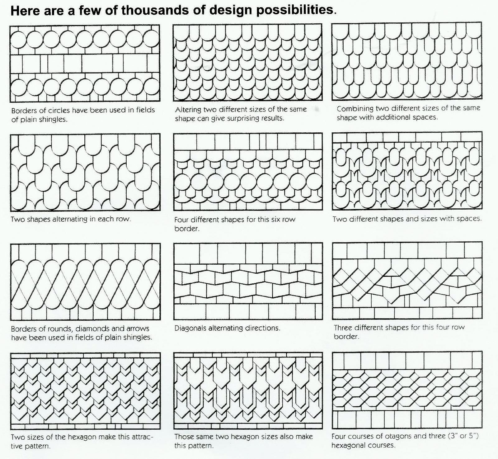 Architectural Shingle Layout Pattern Best Inspiration Ideas