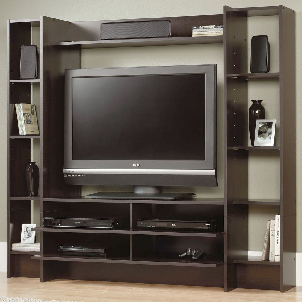Flat Screen Tv Console Details About Flat Screen Tv Stand Wood Modern Media Storage