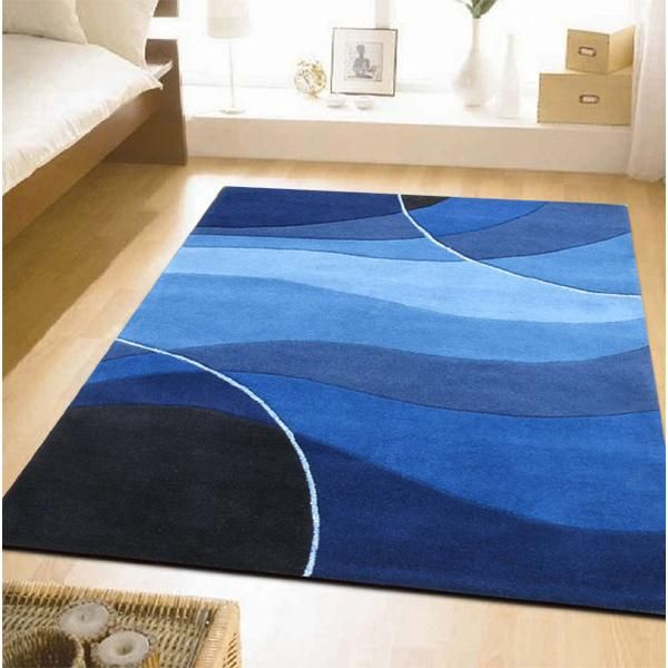 Modern Blue Area Rugs Blue Rugs For Bedroom | AJ\'s Apartment bedroom ...