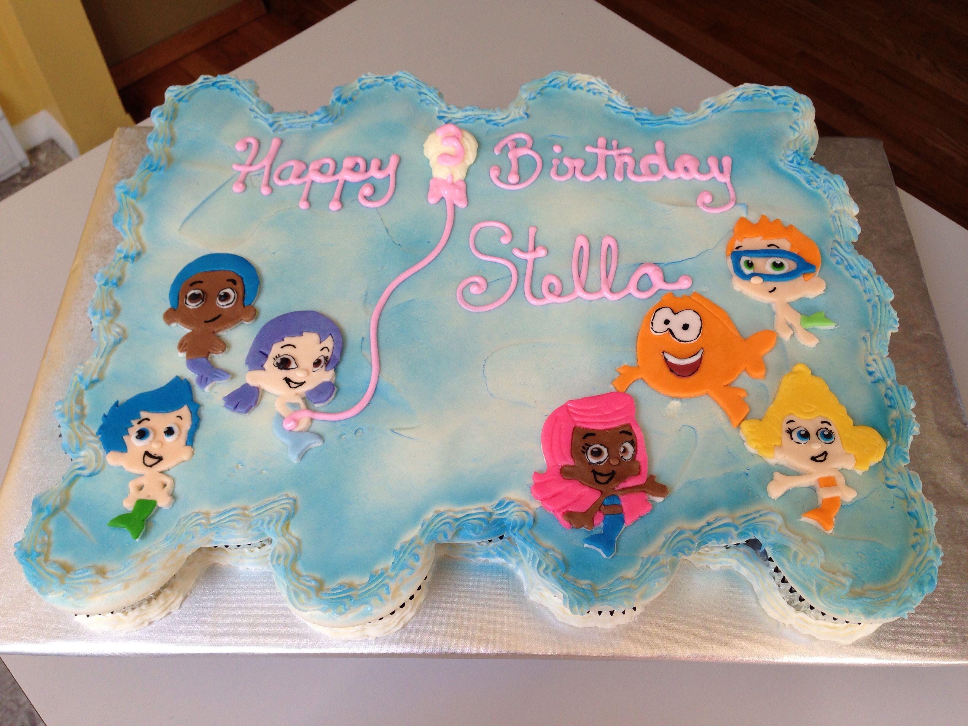 Pleasant Bubble Guppies Cupcake Cake Bubble Guppies Cupcakes Bubble Funny Birthday Cards Online Hetedamsfinfo