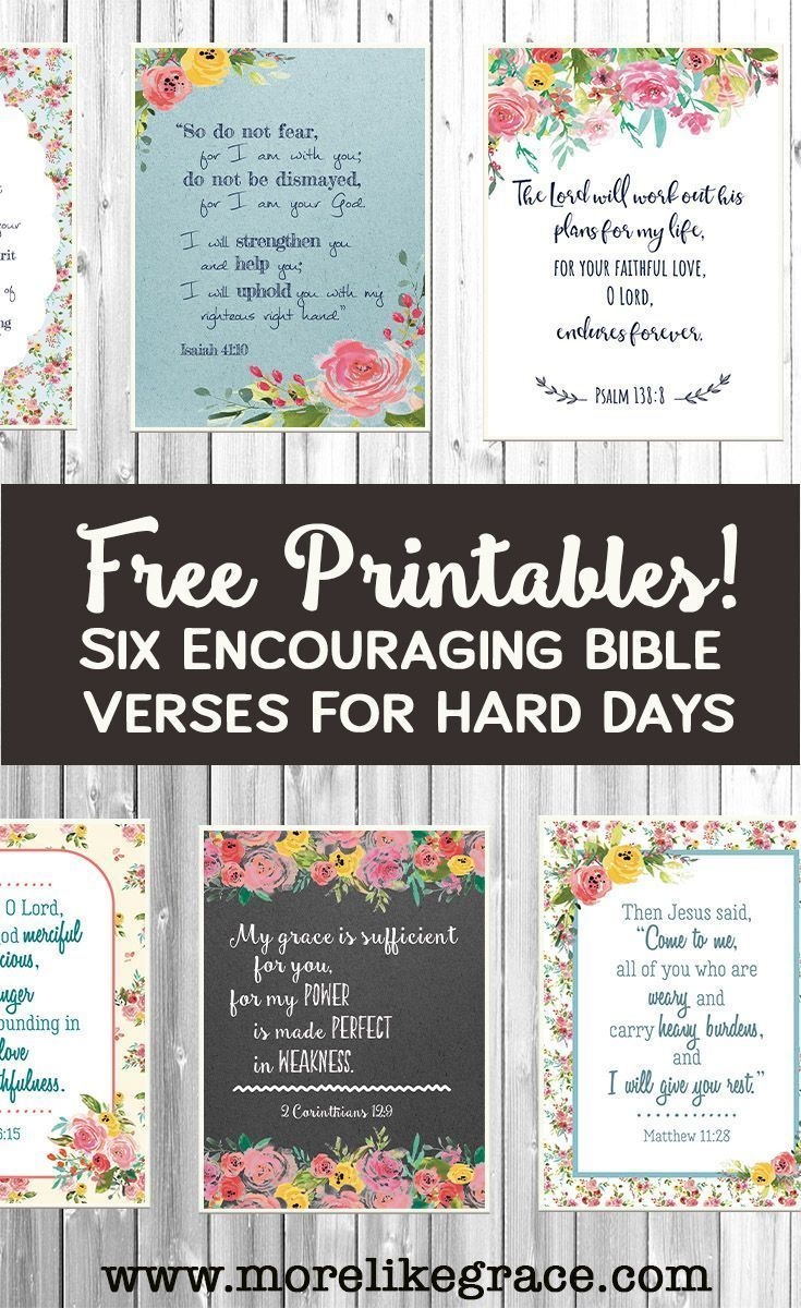 Free Printable Scripture Cards Christian Encouragement Scriptures